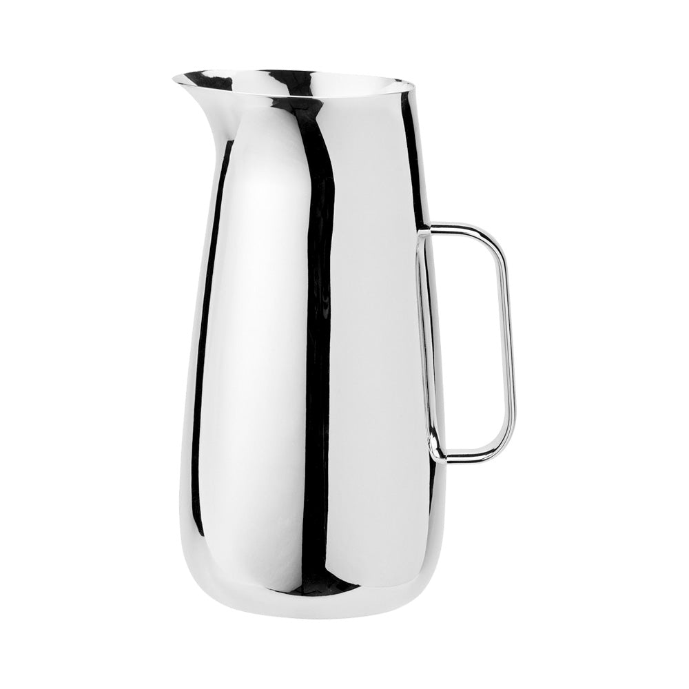 Polished steel jug designed by Sir Norman Foster