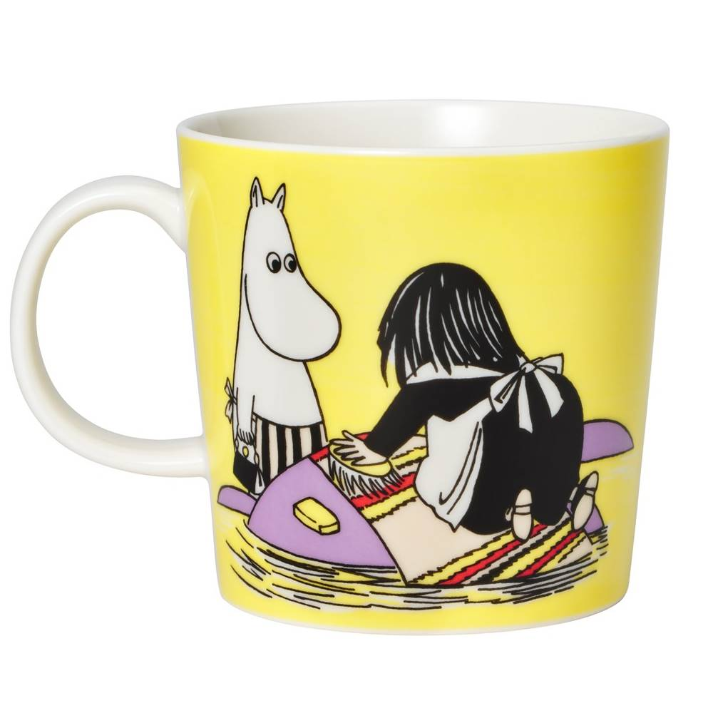 Moomin Misabel yellow porcelain mug
