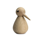 light oak wooden bird ornament