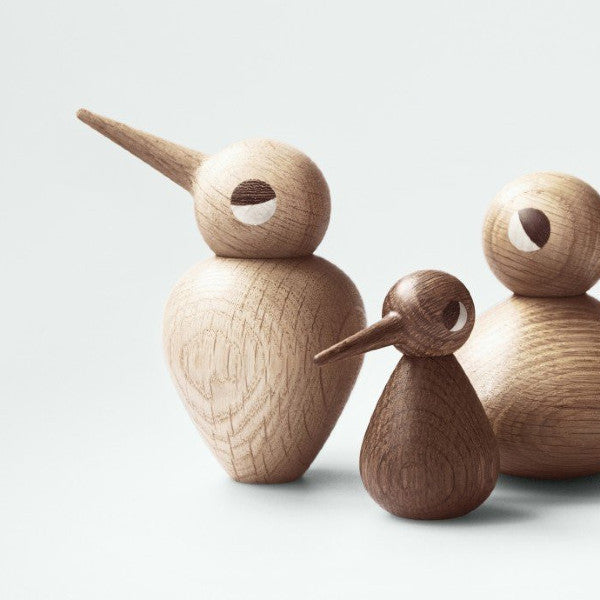 Oak wood bird ornaments by Architectmade