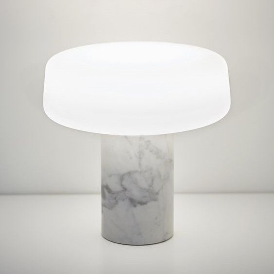 Solid LED table lamp in Carrara Marble by Case Furniture