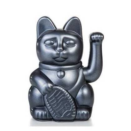 Lucky Waving Cat in galaxy grey