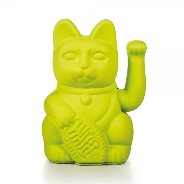 Lucky Waving Cat in neon green