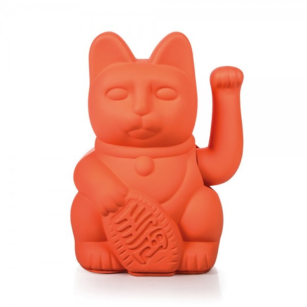 Lucky Waving Cat in neon pink