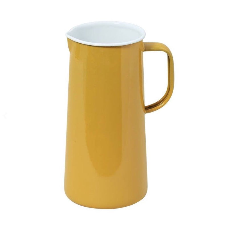 Falcon Enamelware Enamel 3 pint jug in mustard yellow