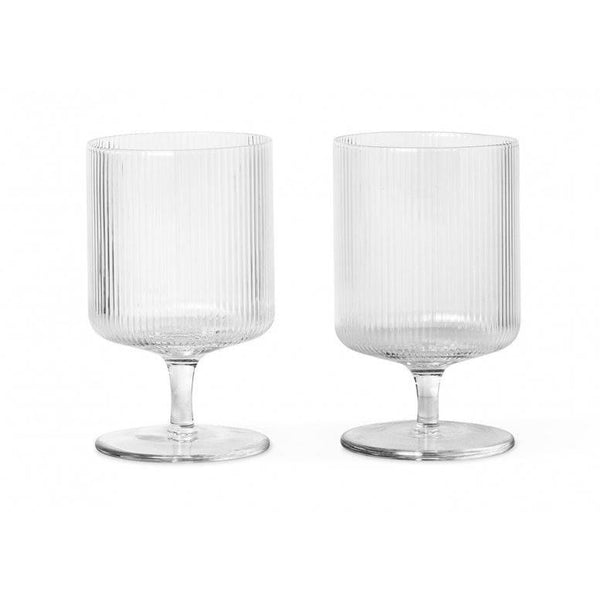 Ripple Wine Glasses Set of 2 - indish-design-shop-2