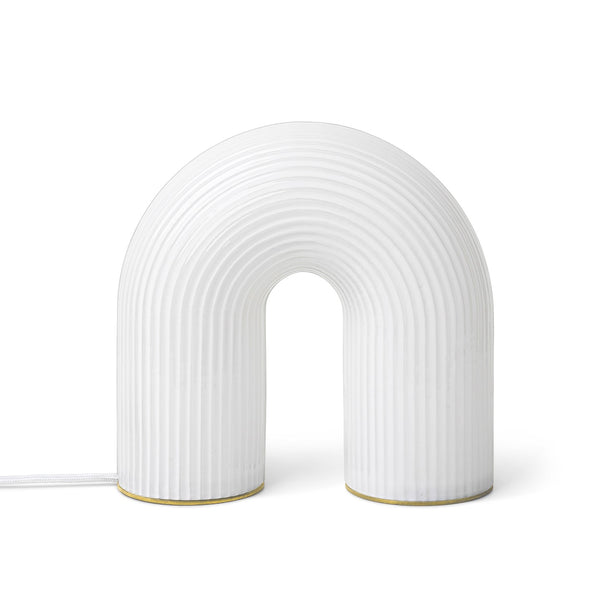 Ferm Living Vuelta white glass LED lamp