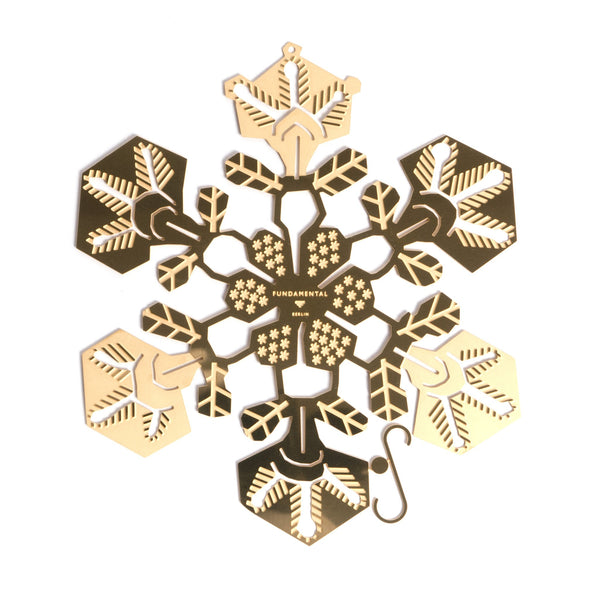 Brass Snowflake 15cm - indish-design-shop-2
