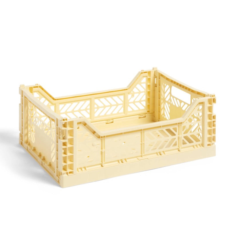Hay medium sized Colour Crate in light yellow