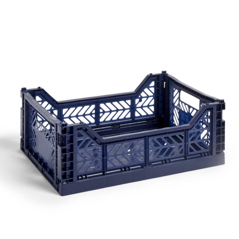 Hay medium sized Colour Crate in navy blue