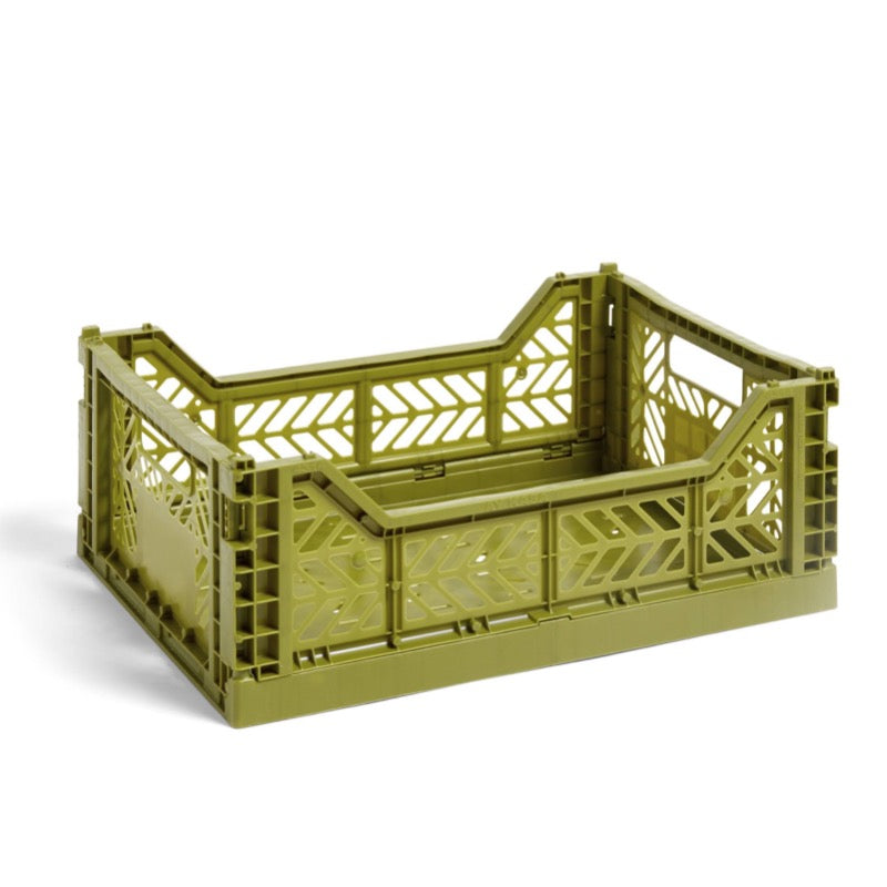 Hay medium sized Colour Crate in olive green