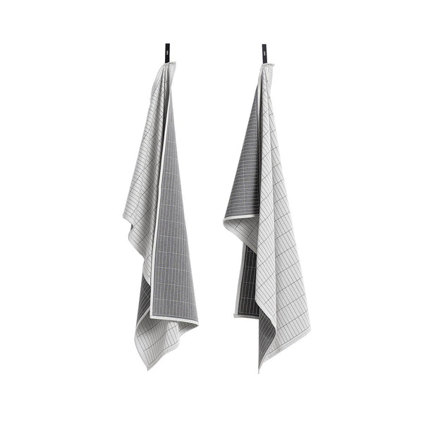 Dash Grid Tea Towels Set of 2