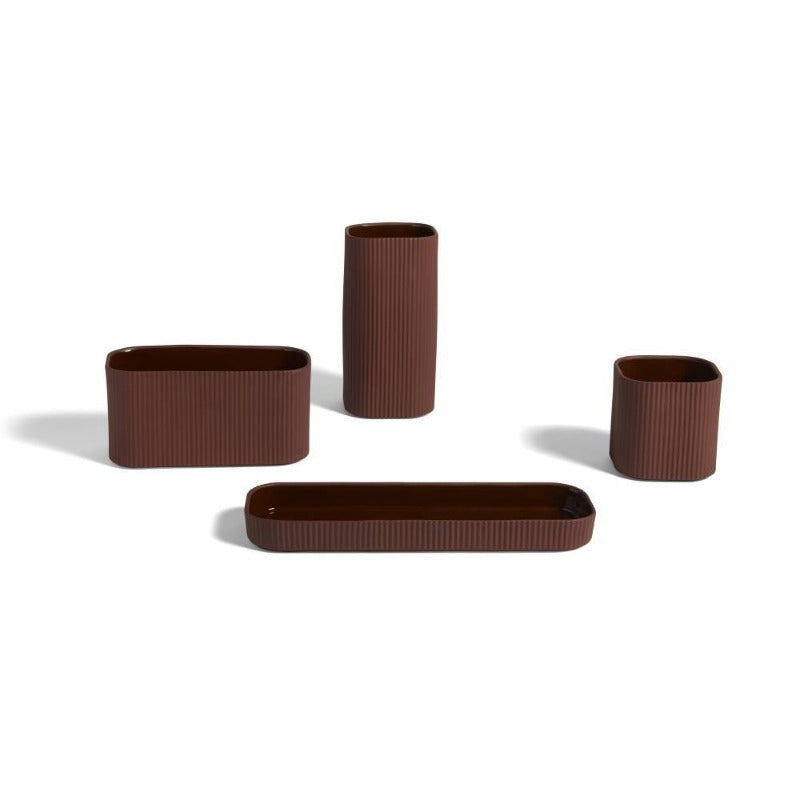 Dark terracotta Facade Herb Pots by Hay