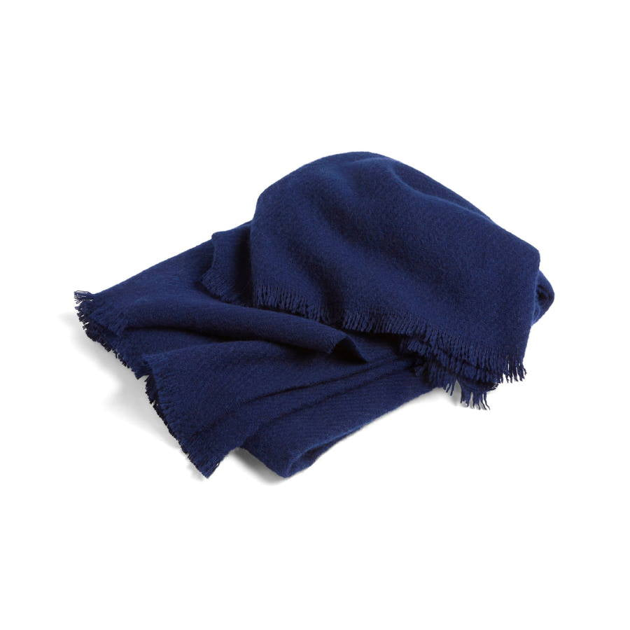 Soft wool blanket in midnight blue by Hay