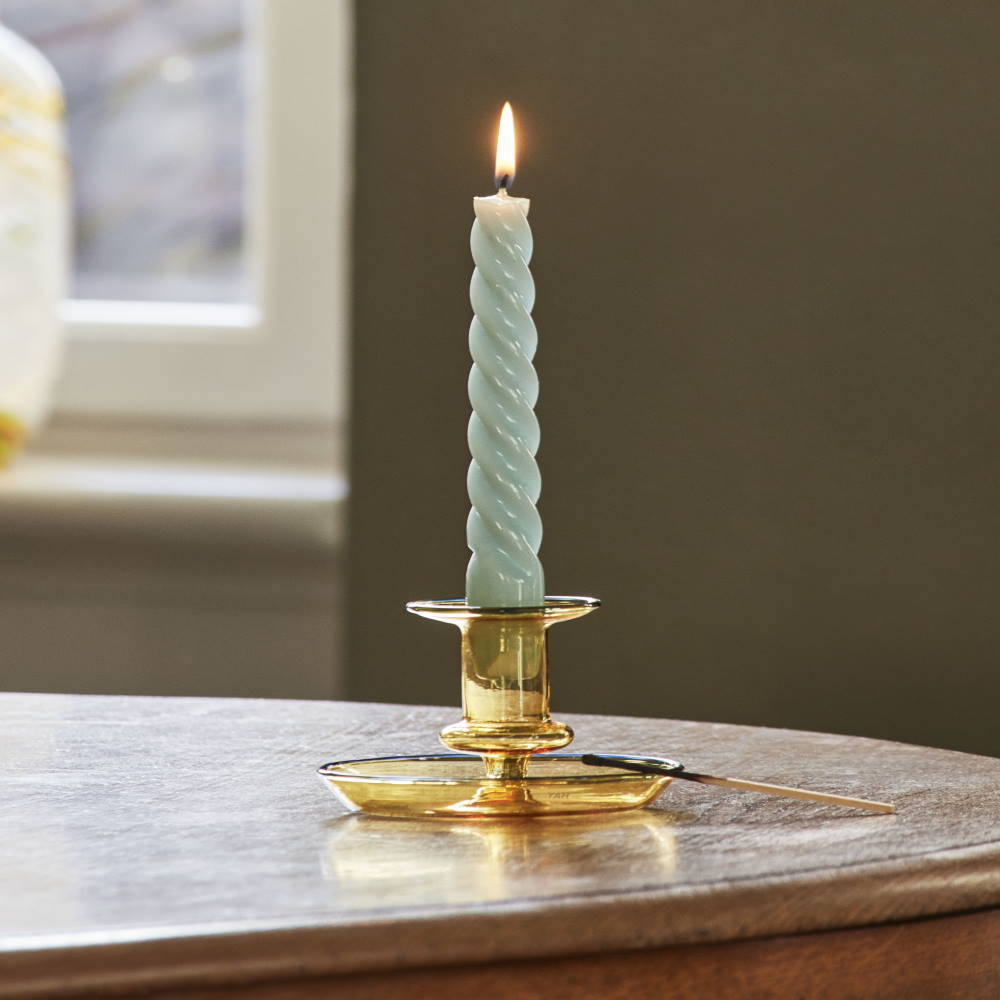 Twist Candle and Flare candle holder by Hay