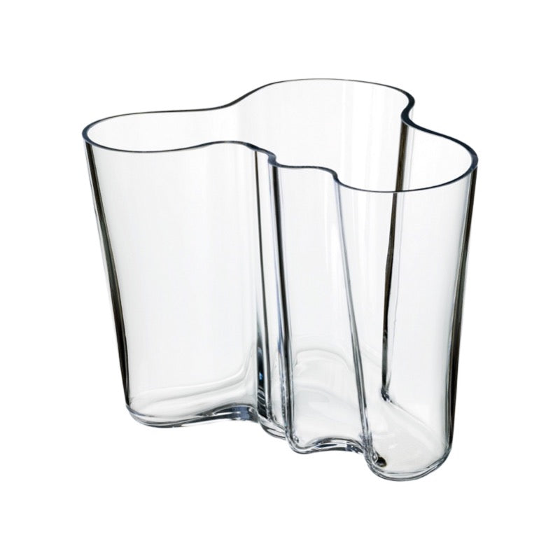 Alvar Aalto clear glass vase 160mm