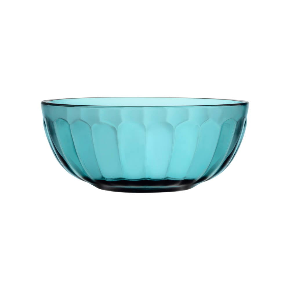 Sea blue Raami glass bowl designed by Jasper Morrison for iittala