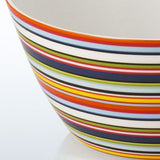 Origo ceramic bowl with multicoloured thin striped decoration