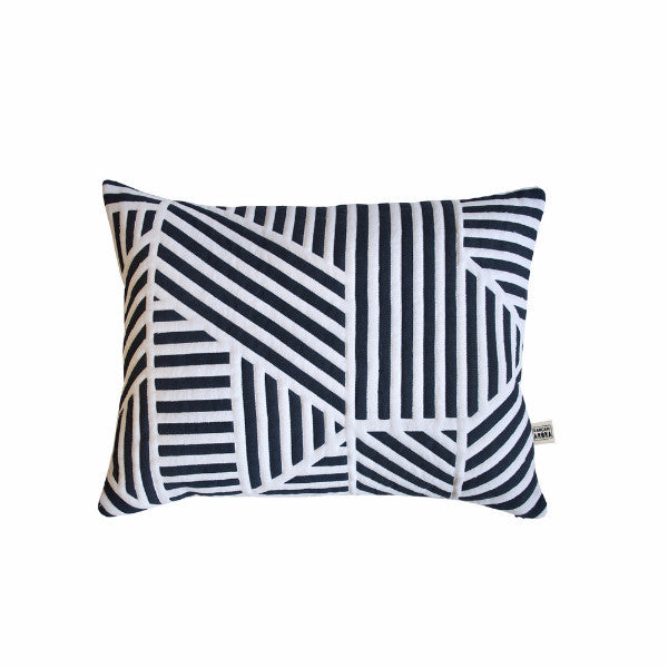 Loha Quilted Cushion Navy - Indish Design Shop  - 1