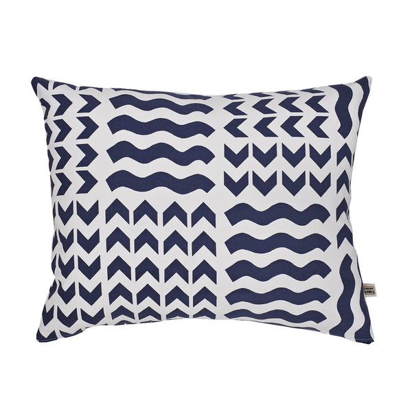 Lucknow Cushion Navy - Indish Design Shop  - 1