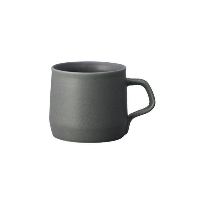 Dark grey Fog porcelain mug by Kinto