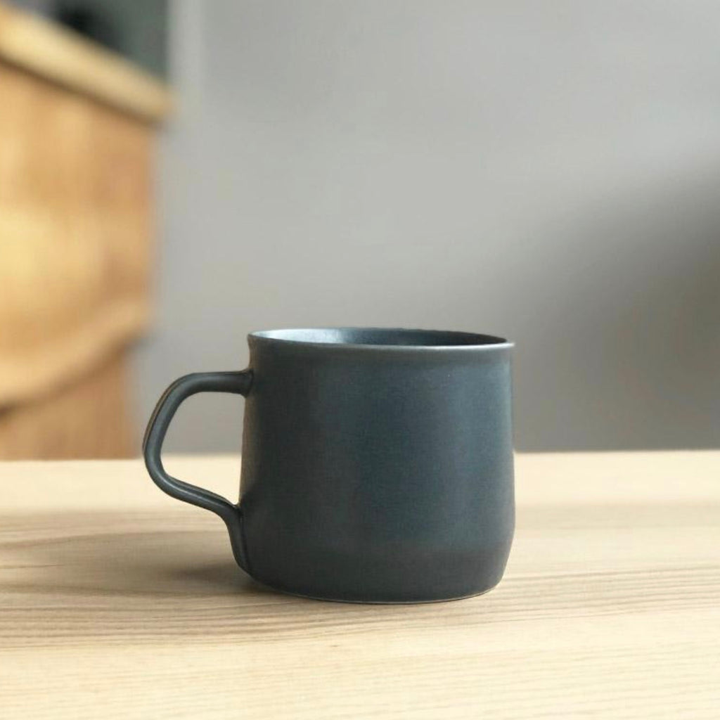 Dark grey porcelain mug