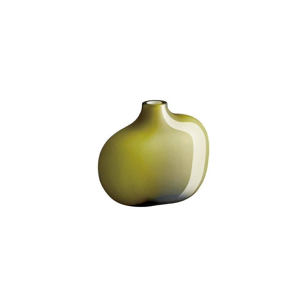 Green glass single stemmed vase by Kinto