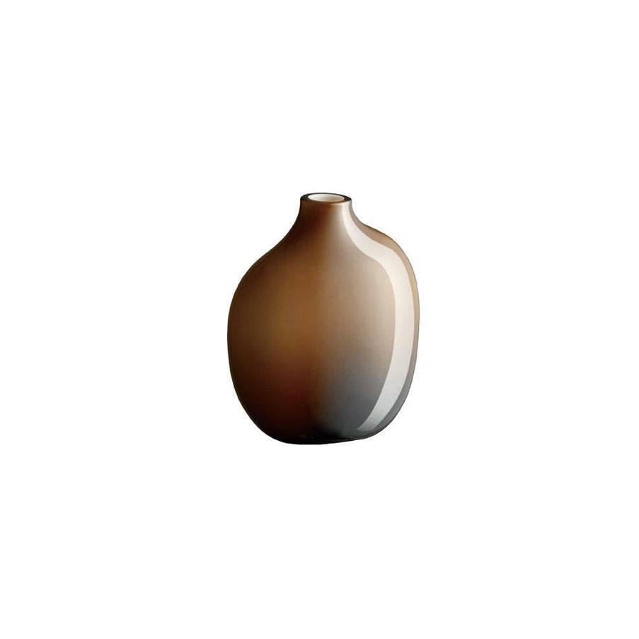 Brown glass single stemmed vase by Kinto