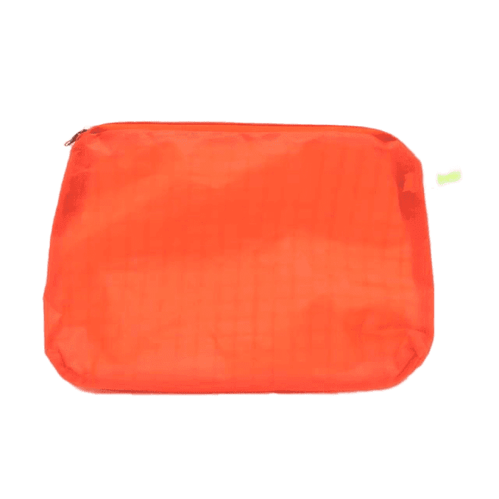 Kolor magic zip up travel pouch in orange