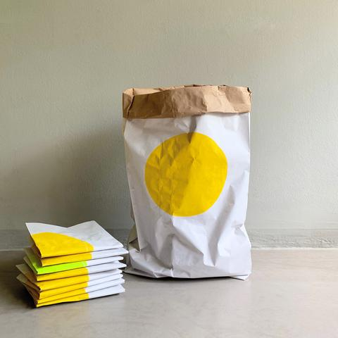 Paper Bag Sunshine Yellow Dot