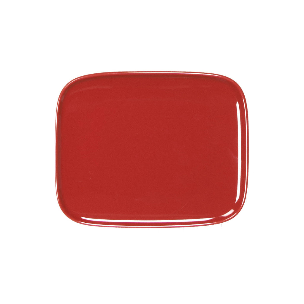 Oiva Red Plate 15x12cm
