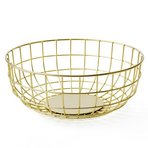 Norm Brass Wire Fruit Bowl