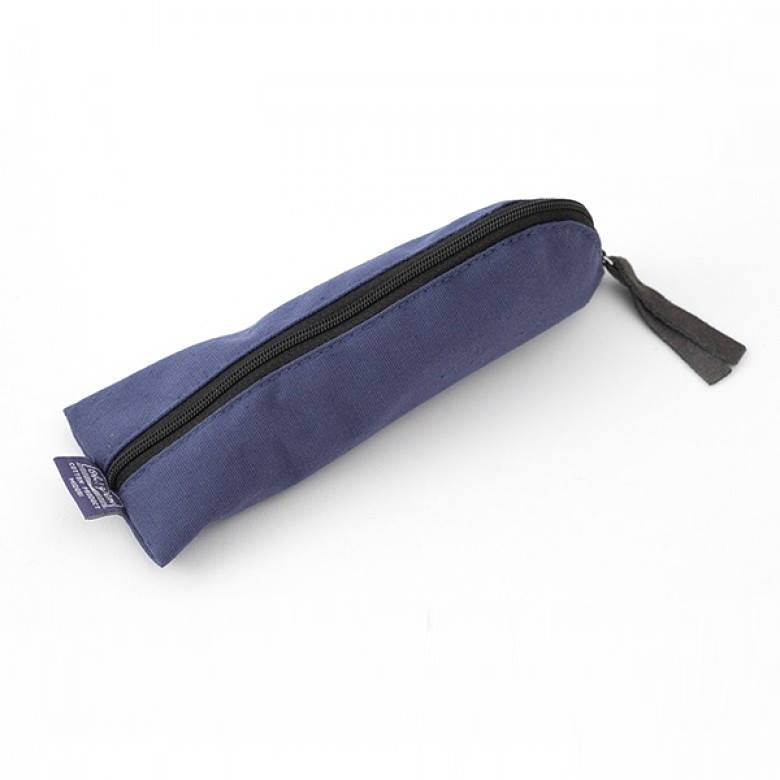 Canvas Pen Case In navy blue