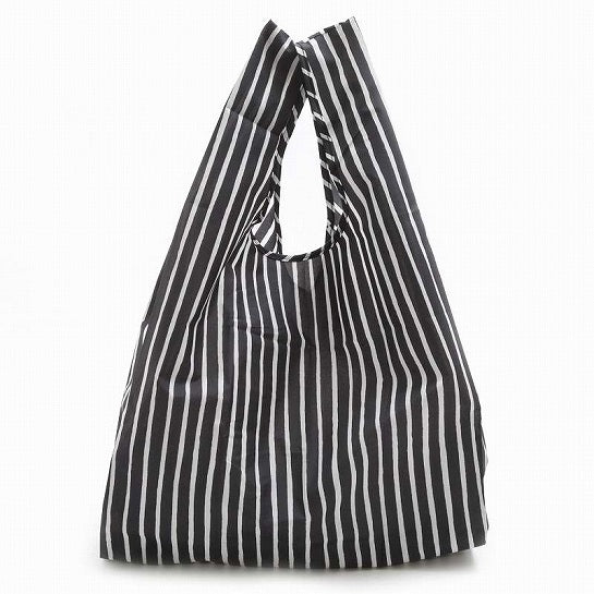 Marimekko smart shopping bag in black and white stripes
