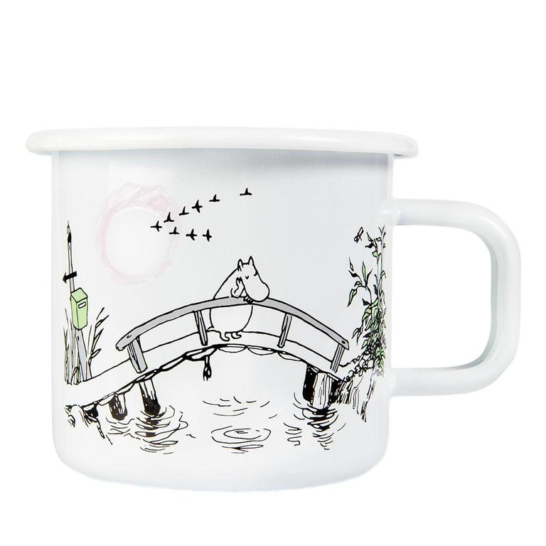 White Moomin Missing You enamel mug