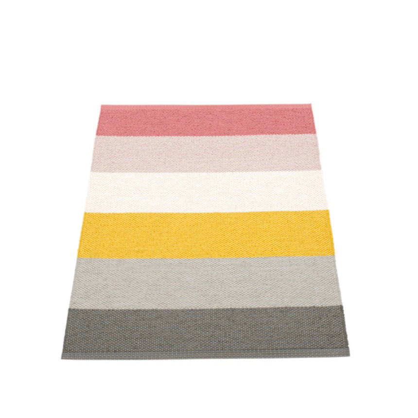 Pappelina Molly rug Moor in multicoloured stripes
