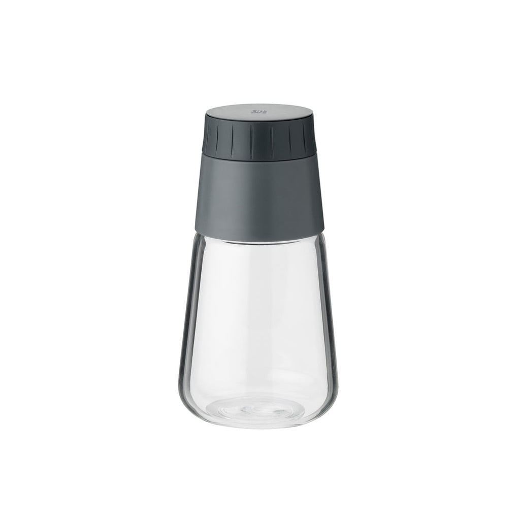 Glass and grey BPA grey plastic dressing shaker