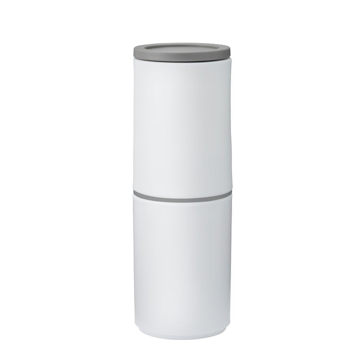 White and grey pepper and spice mill