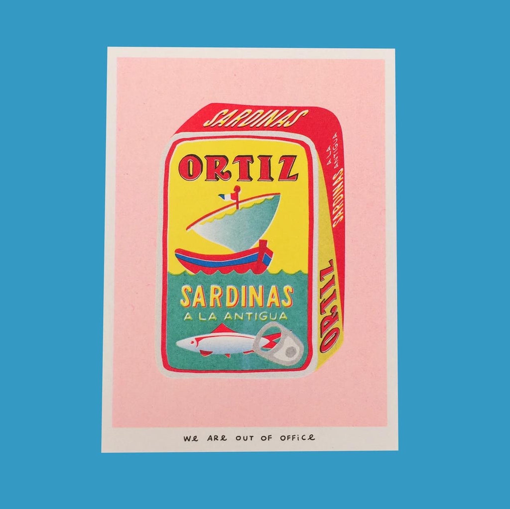 Multicoloured Riso print Sarbinas 13 x 18 cm by We Are Out of Office