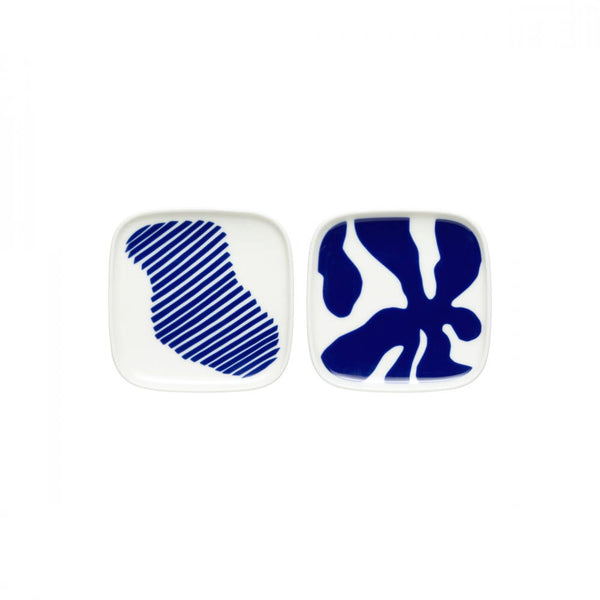Marimekko Ruudut Small Square Plates Set of 2