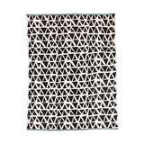 Black and off-white Lennox Cotton Throw 160x130cm