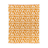 Mustard yellow and off-white Lennox Throw 160x130cm