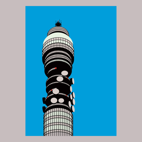 Stefi Orazi BT Tower Screenprint - Indish Design Shop  - 1