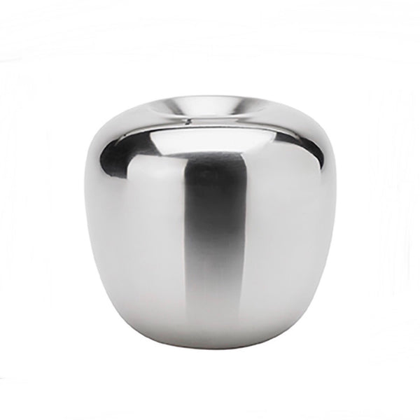 Ora Polished Steel Candleholder Small