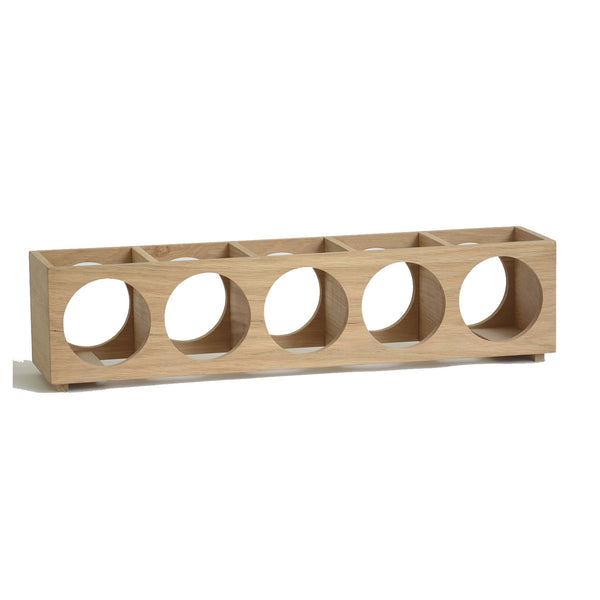 Oak Wine-O Five Bottle Winerack