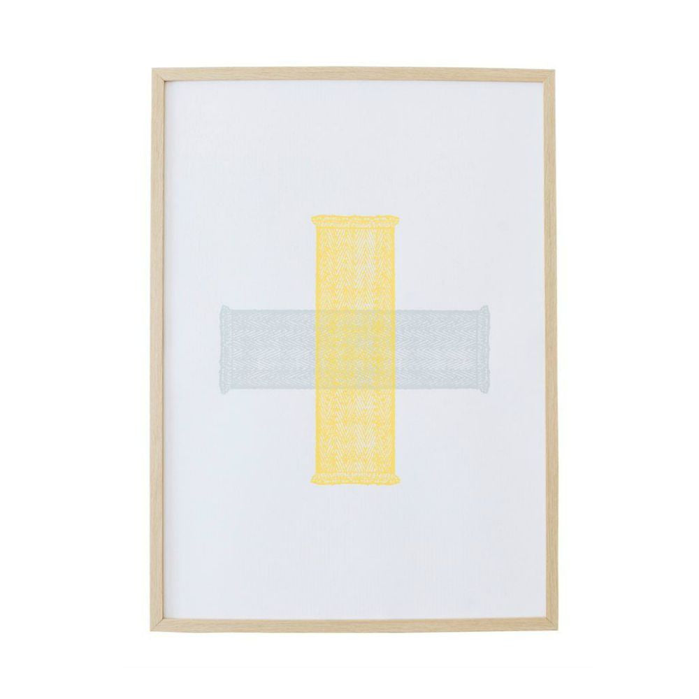 Green & Yellow Cross Print