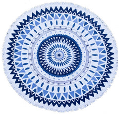 The Aztec Blue Round Towel