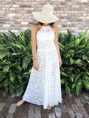 Ltd Edition White Summer Multiway Maxi Dress (1 only)