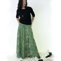 Aztec Green Maxi Skirt