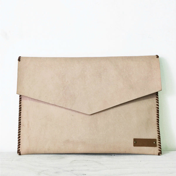 Natural Luxe Leather Laptop Sleeve